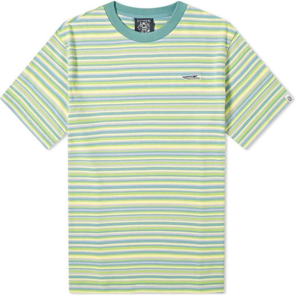 ビリオネアボーイズクラブ Billionaire Boys Club メンズ Tシャツ トップス【Stripe Knit Tee】Lime