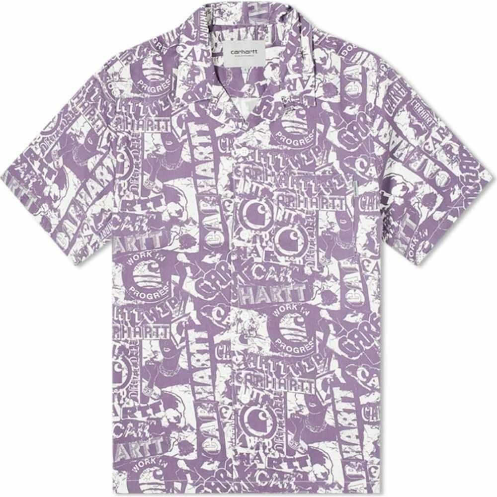 カーハート Carhartt WIP メンズ 半袖シャツ トップス【Collage Vacation Shirt】Collage Print/Purple/White