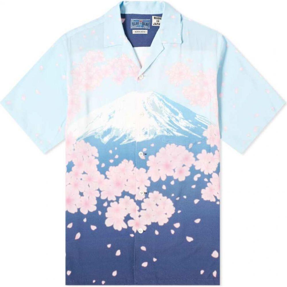 ブルーブルージャパン Blue Blue Japan メンズ 半袖シャツ トップス【Sakura Tunnel & Mt. Fuji Vacation Shirt】One