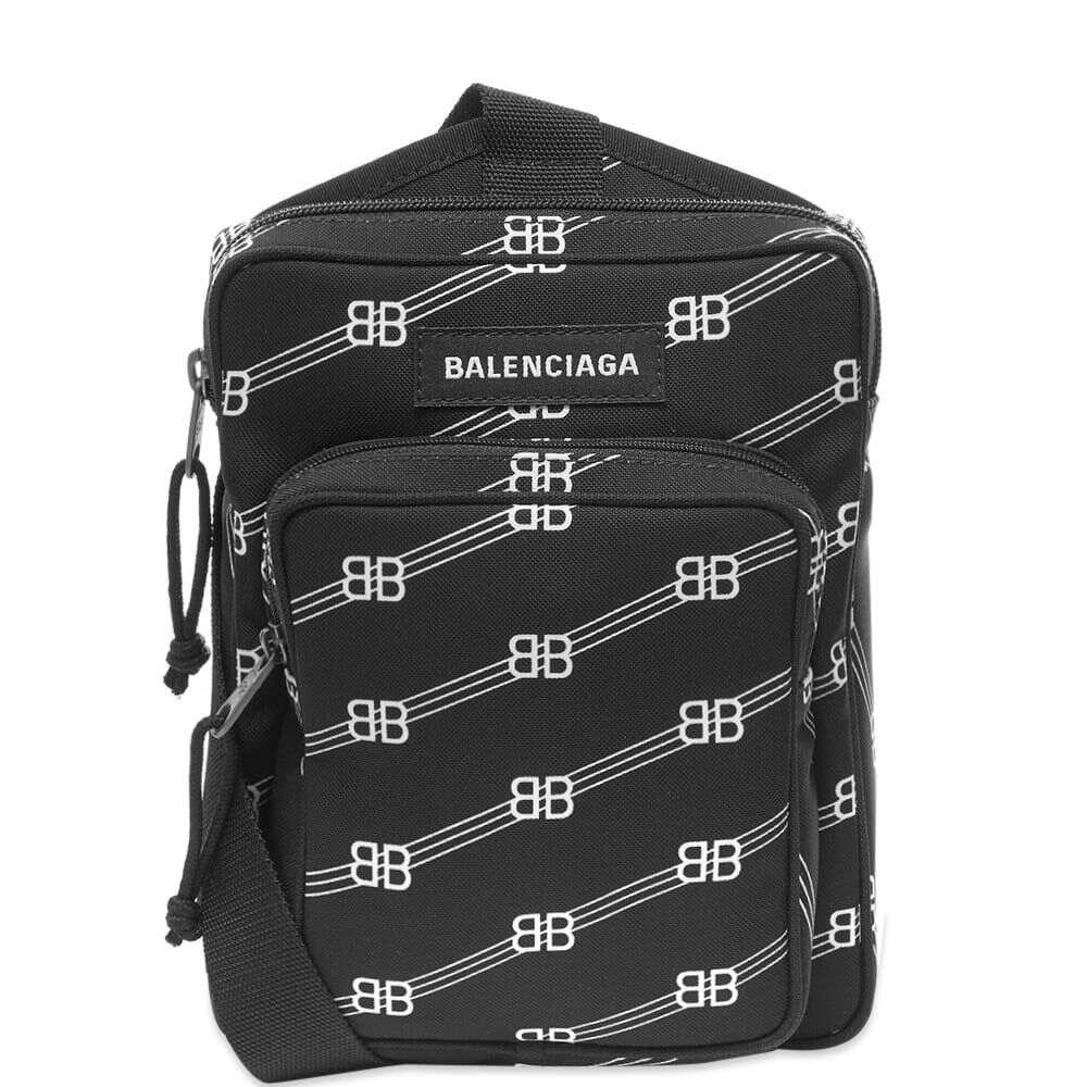 バレンシアガ Balenciaga メンズ ショルダーバッグ バッグ【All Over Logo BB Shotter Bag】Black/White