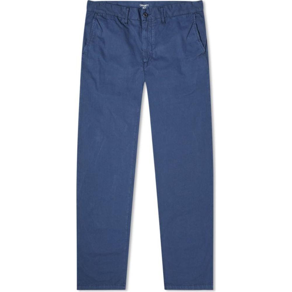 カーハート Carhartt WIP メンズ チノパン ボトムス・パンツ【Johnson Regular Tapered Chino】Blue