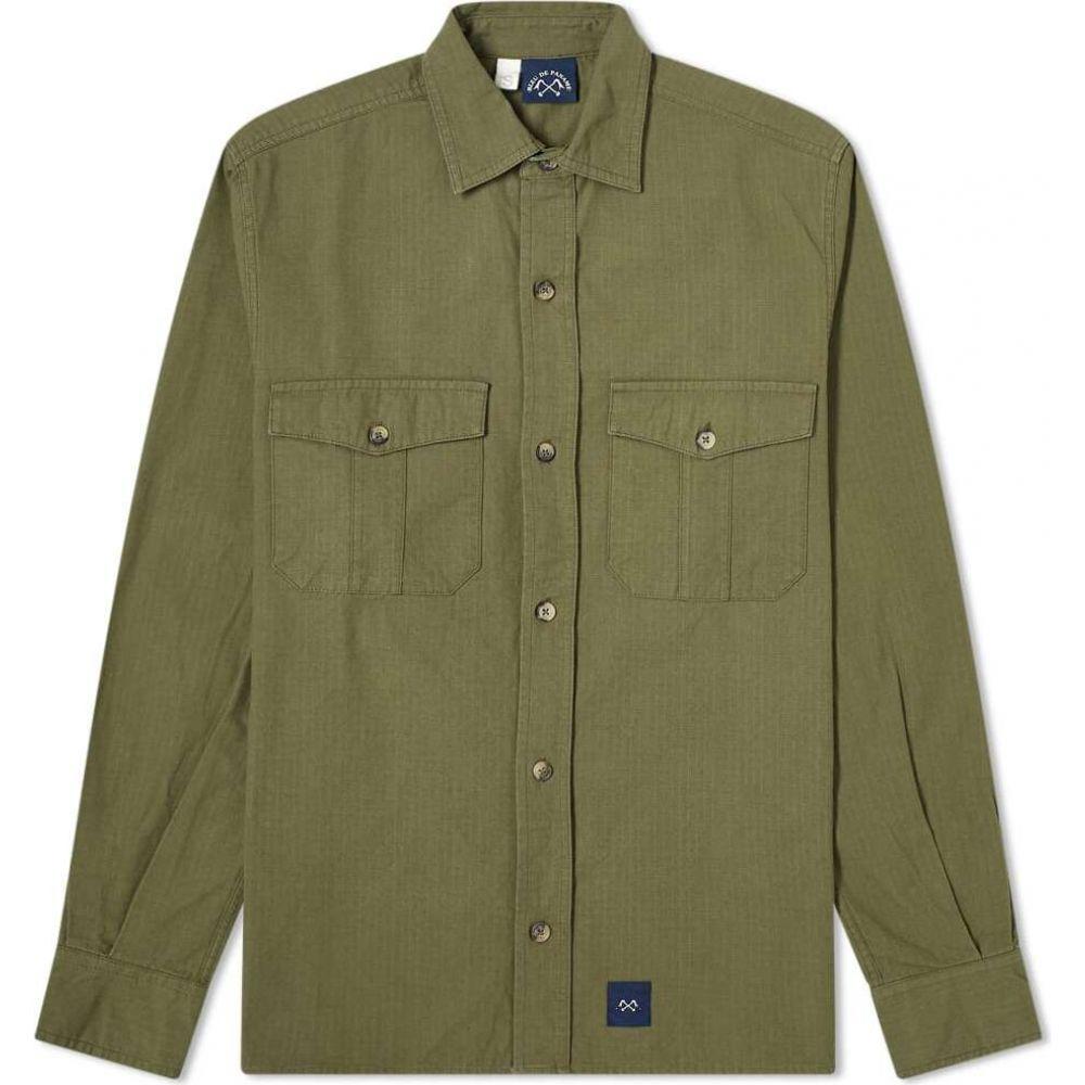 ブルー ドゥ パナム Bleu de Paname メンズ シャツ トップス【2 Pocket Ripstop Shirt】Khaki