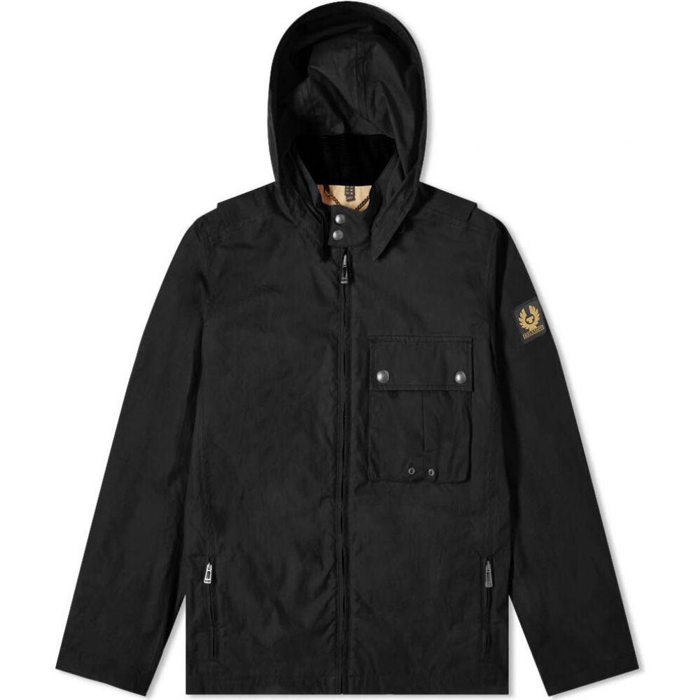 ベルスタッフ Belstaff メンズ ジャケット フード アウター【Wing Hooded Dry Wax Jacket】Black