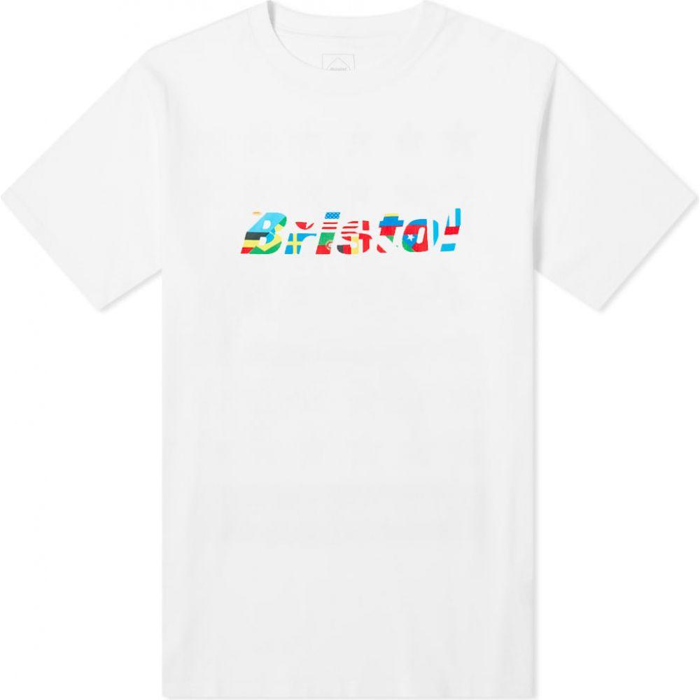 エフシーレアルブリストル F.C. Real Bristol メンズ Tシャツ ロゴTシャツ トップス【Flag Logo Tee】White