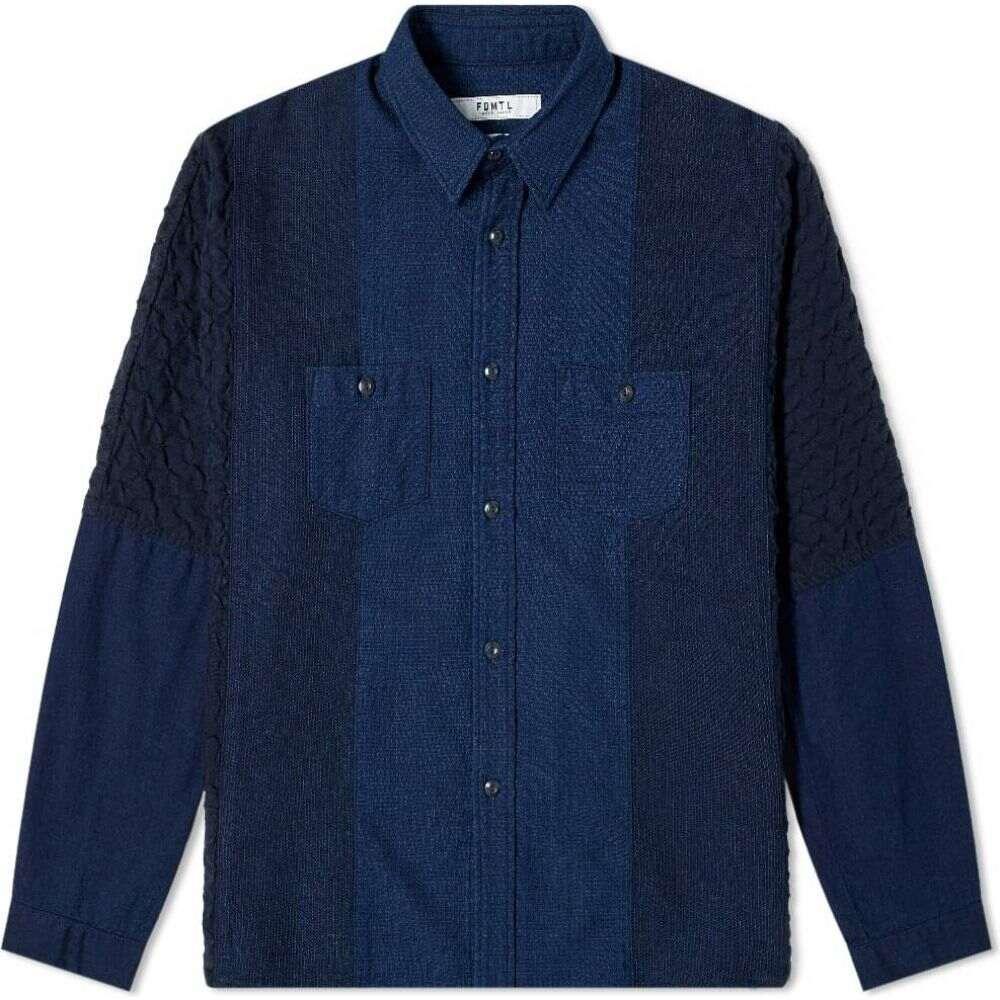 ファンダメンタル FDMTL メンズ シャツ トップス【Oversized Rinse Shirt】Indigo