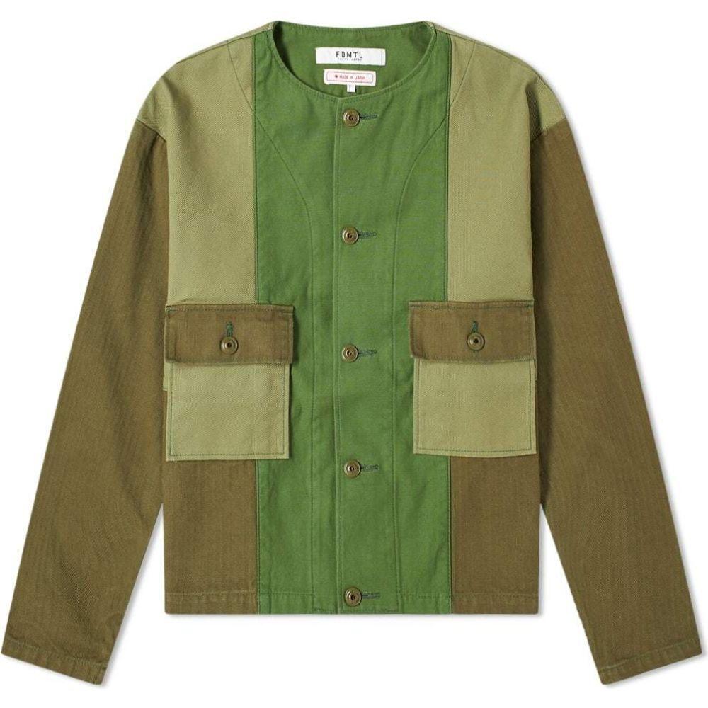 ファンダメンタル FDMTL メンズ ジャケット アウター【Patchwork Liner Jacket】Khaki
