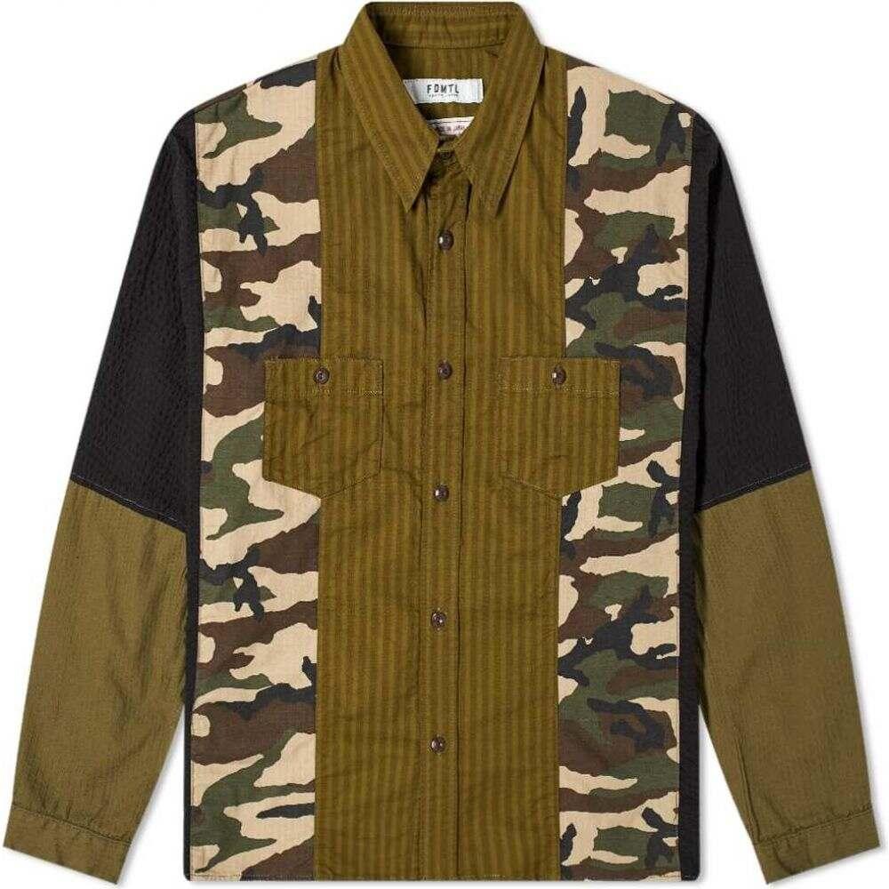 ファンダメンタル FDMTL メンズ シャツ トップス【Oversized Rinse Shirt】Khaki
