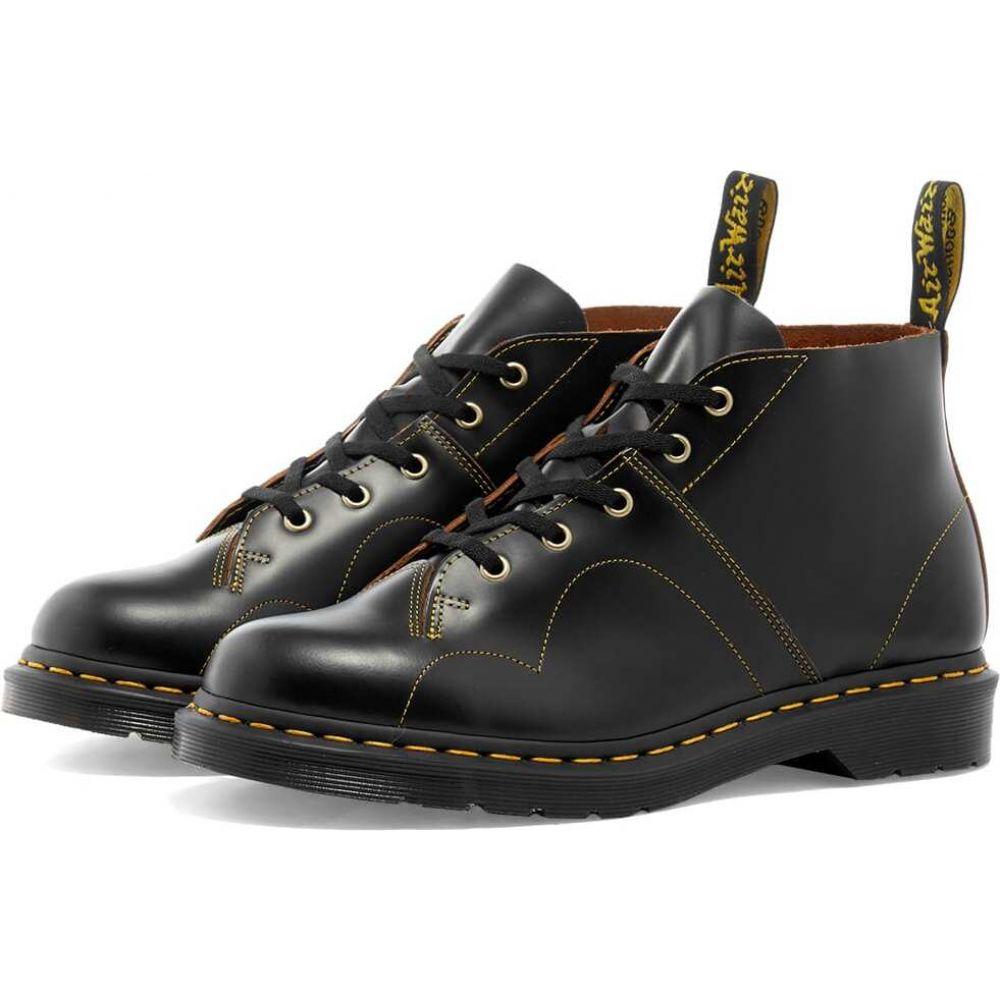 ドクターマーチン Dr Martens メンズ ブーツ モンキーブーツ シューズ・靴【Dr. Martens Church Monkey Boot】Black Vintage Smooth