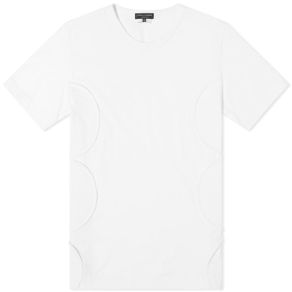 コム デ ギャルソン Comme des Garcons Homme Plus メンズ Tシャツ トップス Polka Dot Side Panel Tee White