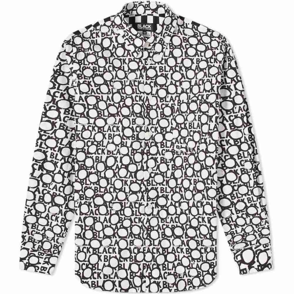 コムデギャルソン Comme des Garcons Black メンズ シャツ トップス【All Over Print Shirt】White/Black
