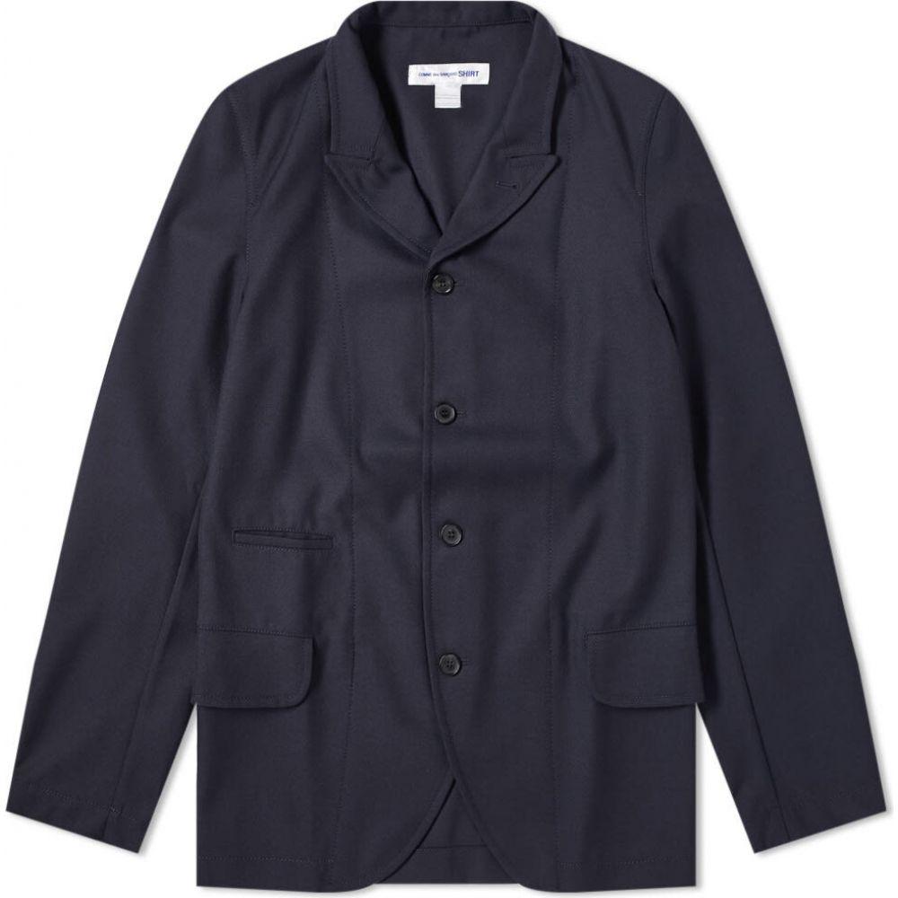 コム デ ギャルソン Comme des Garcons SHIRT メンズ スーツ・ジャケット アウター【Peaked Lapel Blazer】Navy