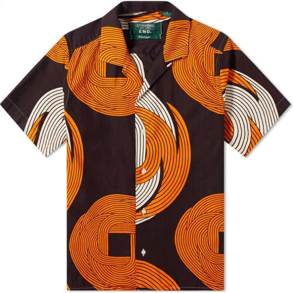 ギットマンヴィンテージ Gitman Vintage メンズ 半袖シャツ トップス【Multi Image Vacation Shirt】Multi Image