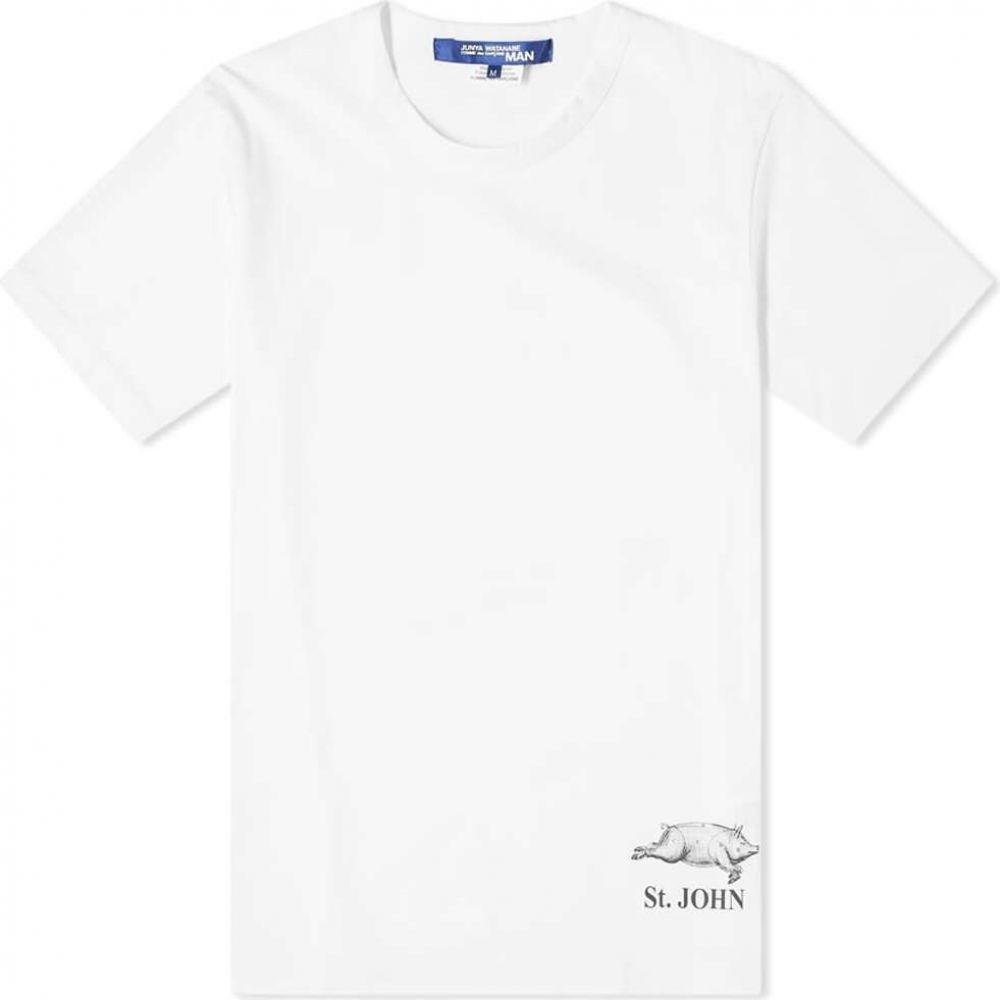 ジュンヤ ワタナベ Junya Watanabe MAN メンズ Tシャツ トップス【St. John Tee】White