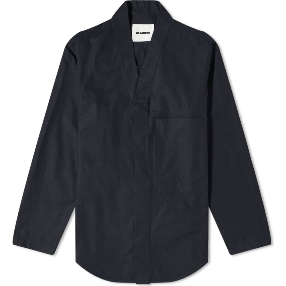 ジル サンダー Jil Sander メンズ ジャケット オーバーシャツ アウター【Kimono Collar Overshirt】Dark Navy