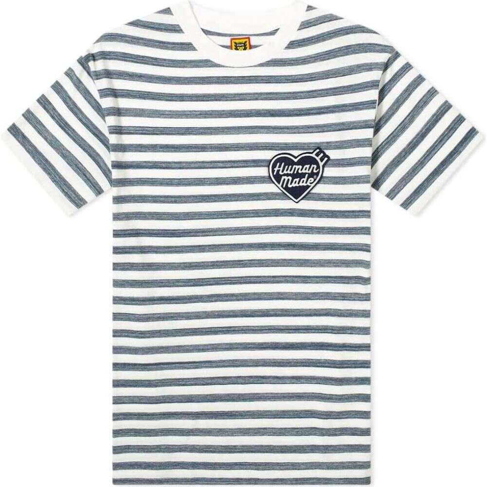 ヒューマンメイド Human Made メンズ Tシャツ トップス【Border Tee】Navy