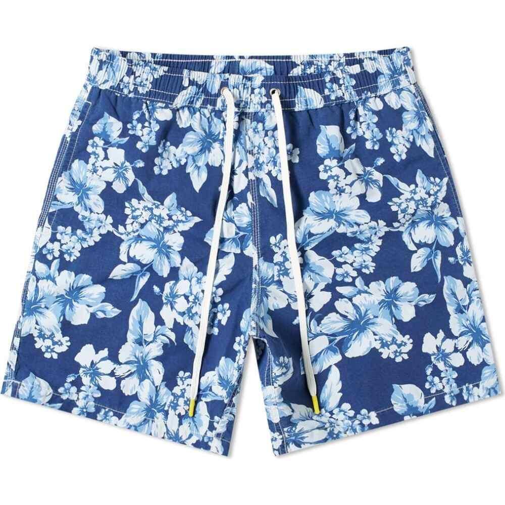 ハートフォード Hartford メンズ 海パン 水着・ビーチウェア【Floral Print Swim Short】Navy