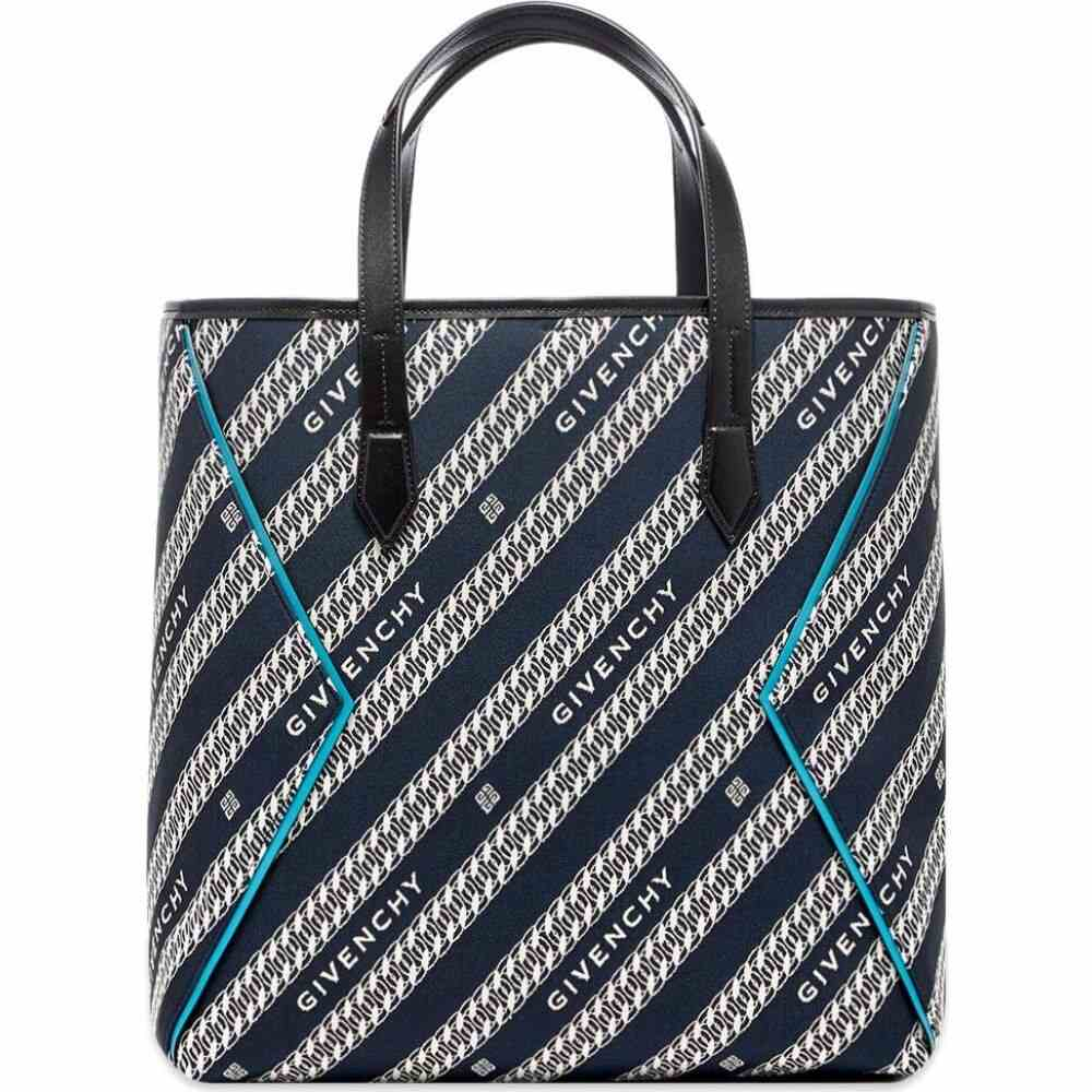 ジバンシー Givenchy メンズ トートバッグ バッグ【4G Chains Jacquard Logo Tote Bag】Oil Blue