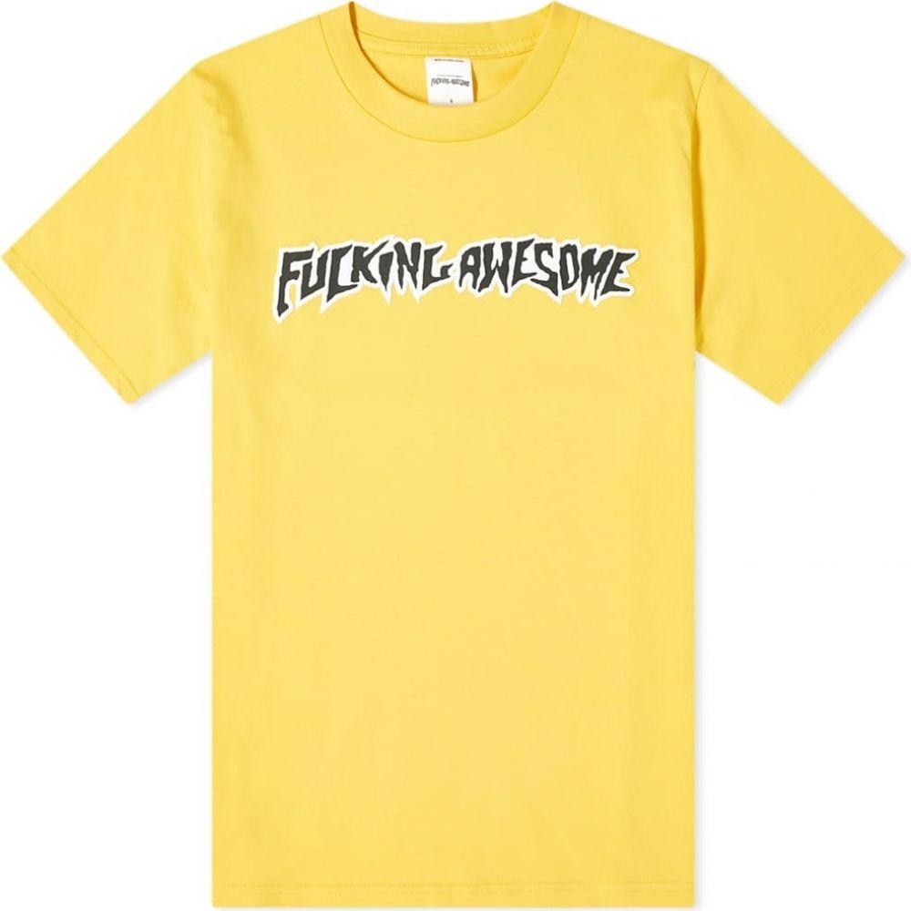 ファッキングオーサム Fucking Awesome メンズ Tシャツ ロゴTシャツ トップス【Puff Outline Logo Tee】Gold