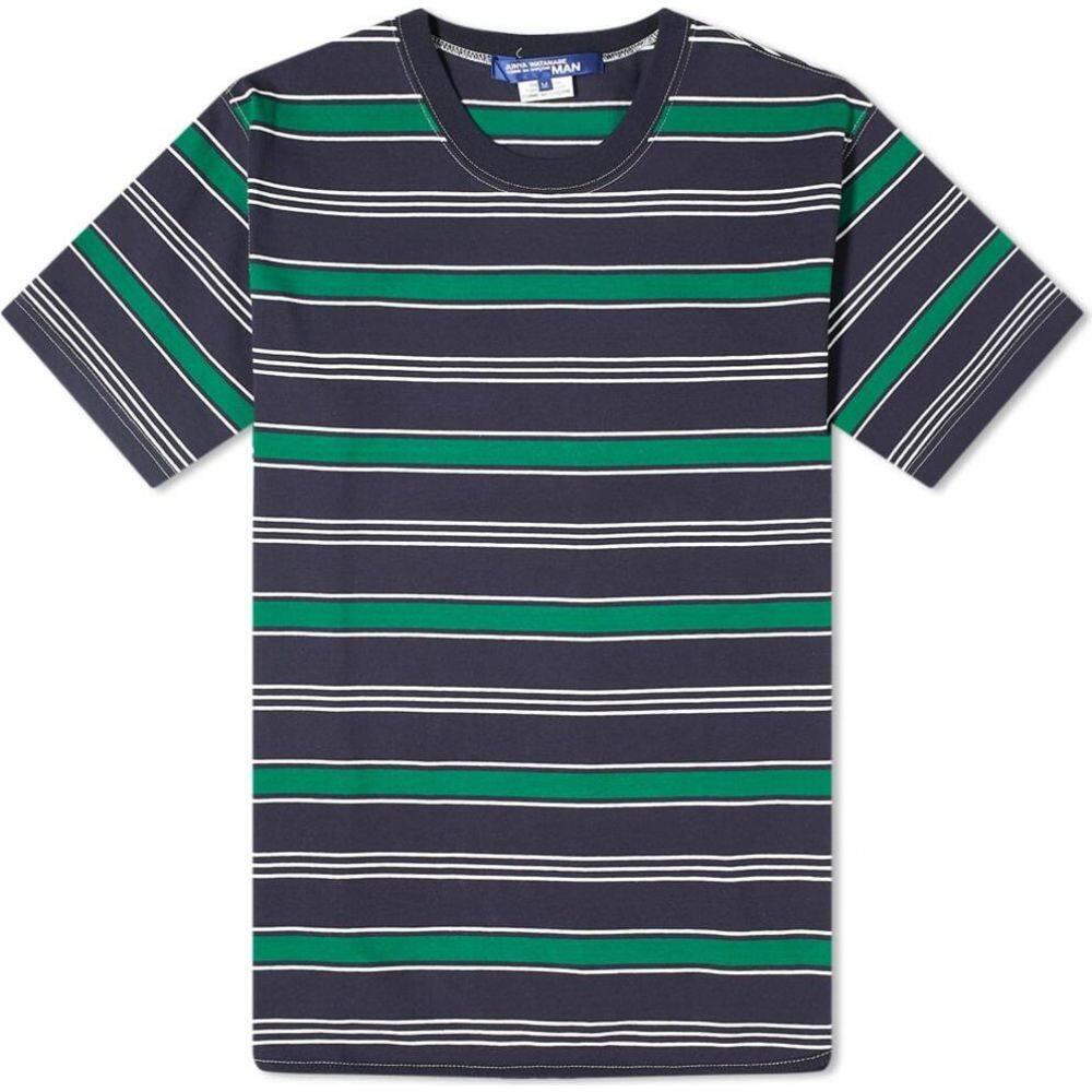 ジュンヤ ワタナベ Junya Watanabe MAN メンズ Tシャツ トップス【Multi Stripe Tee】Navy/White/Green