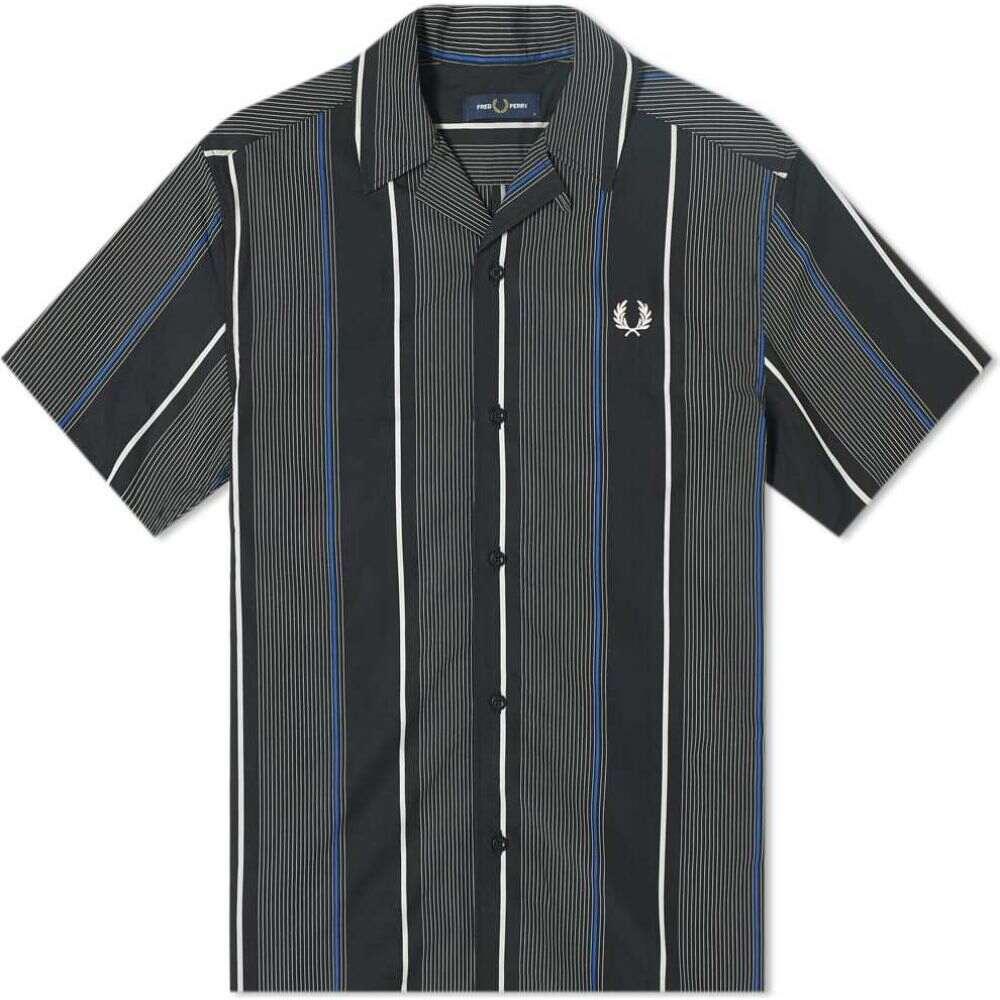 フレッドペリー Fred Perry Authentic メンズ 半袖シャツ トップス【Multi Stripe Vacation Shirt】Black