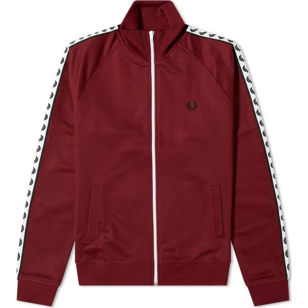 フレッドペリー Fred Perry Authentic メンズ ジャージ アウター【Taped Track Jacket】Tawny Port
