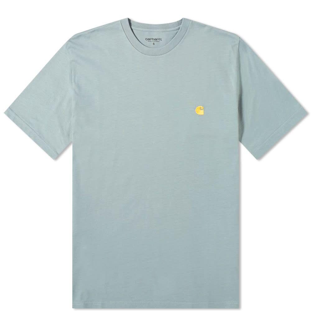 カーハート Carhartt WIP メンズ Tシャツ トップス【carhartt chase tee】Cloudy/Gold