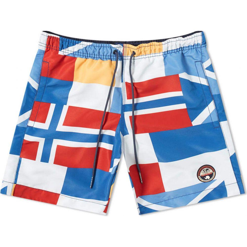 ナパピリ Napapijri メンズ 海パン 水着・ビーチウェア【Flag Print Swim Short】Flag