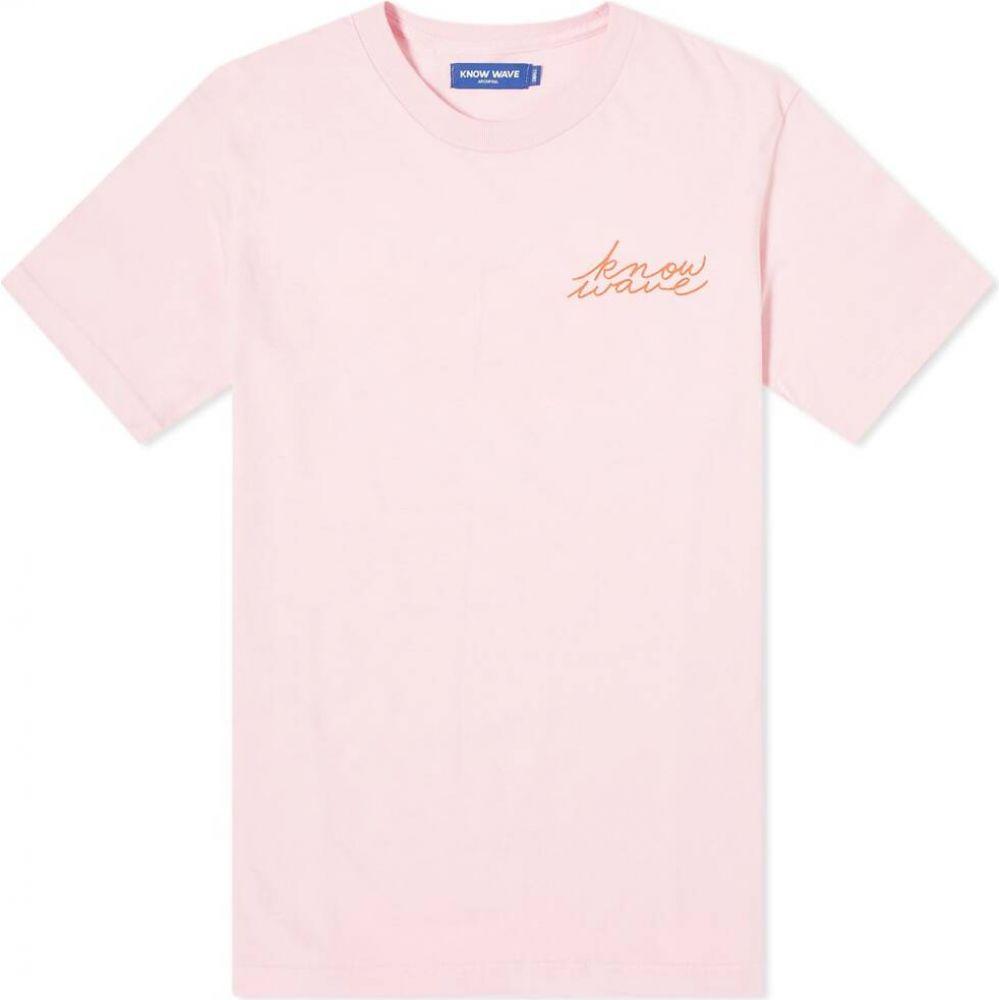 ノウ ウェイブ Know Wave メンズ Tシャツ トップス【Signature Tee】Pink