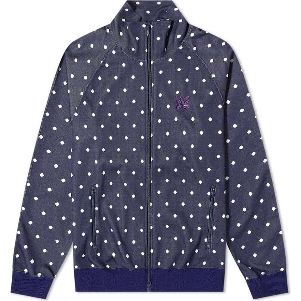 ニードルズ Needles メンズ ジャージ アウター【Jacquard Polka Dot Track Jacket】Navy