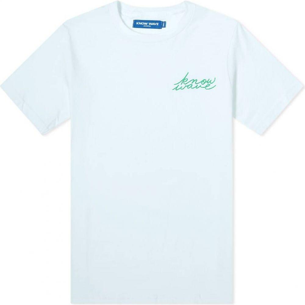 ノウ ウェイブ Know Wave メンズ Tシャツ トップス【Signature Tee】Light Blue