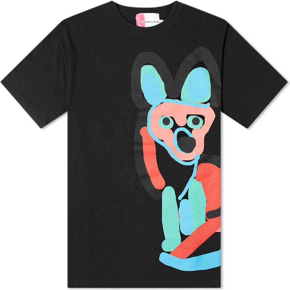 メゾン キツネ Maison Kitsune メンズ Tシャツ トップス【Acide Print Tee】Black