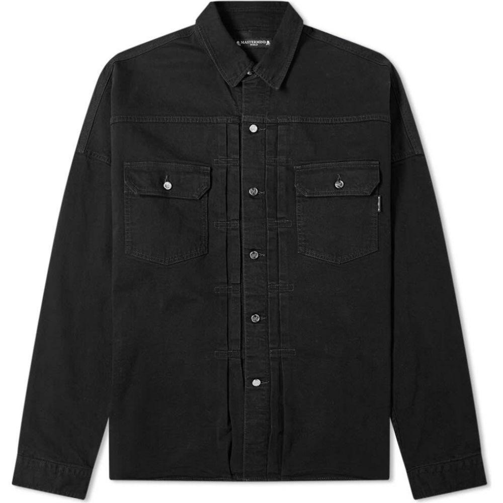マスターマインド MASTERMIND WORLD メンズ シャツ オーバーシャツ トップス【Denim Overshirt】Black