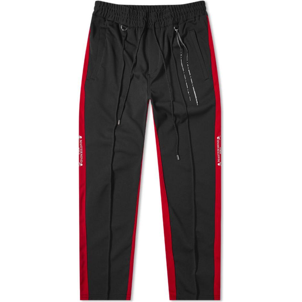 マスターマインド MASTERMIND WORLD メンズ スウェット・ジャージ ボトムス・パンツ【Side Stripe Track Pant】Black/Red