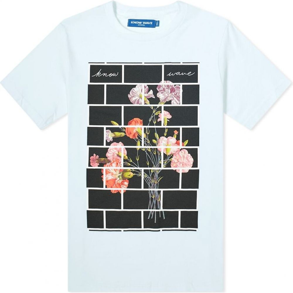ノウ ウェイブ Know Wave メンズ Tシャツ トップス【Arrangements Tee】Light Blue