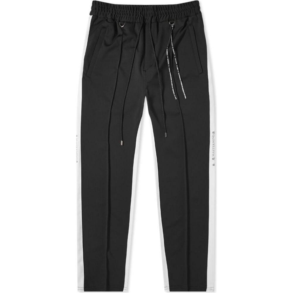 マスターマインド MASTERMIND WORLD メンズ スウェット・ジャージ ボトムス・パンツ【Side Stripe Track Pant】Black/White