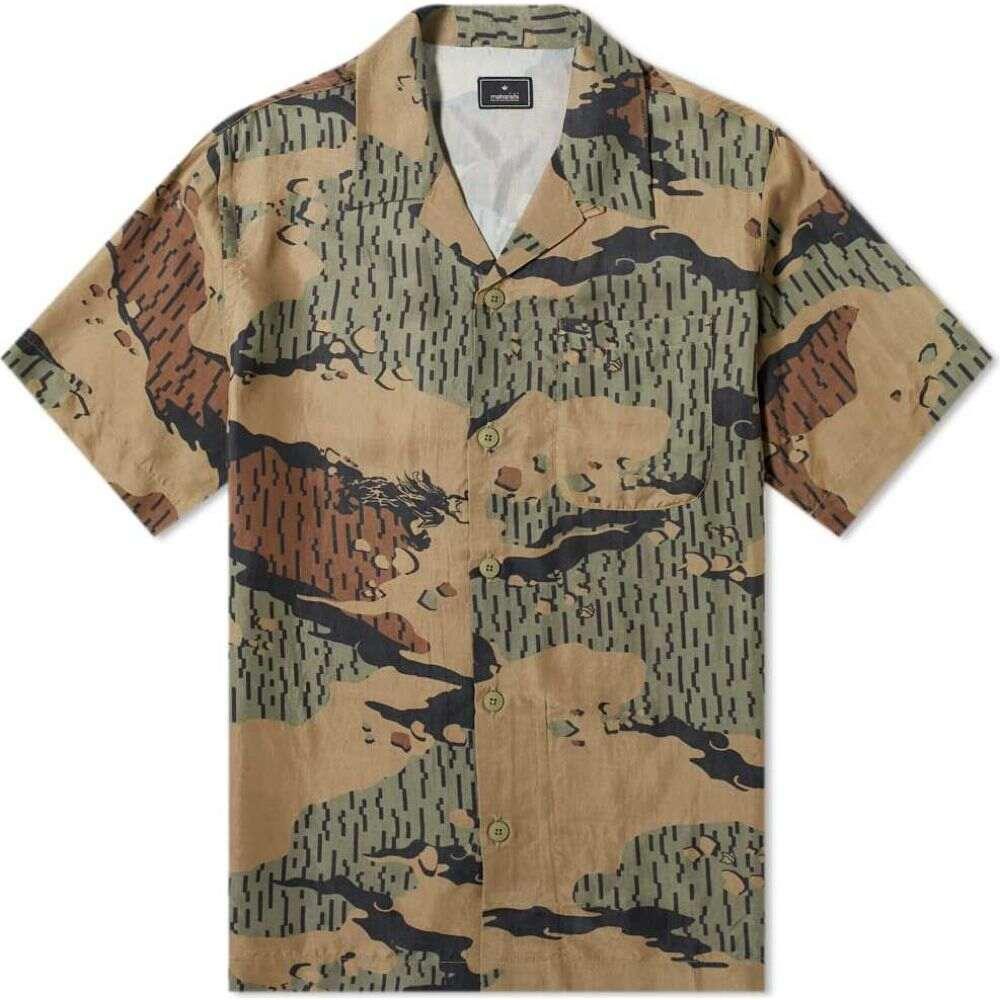 マハリシ Maharishi メンズ 半袖シャツ トップス【Desert Rain Camo Summer Shirt】Woodland