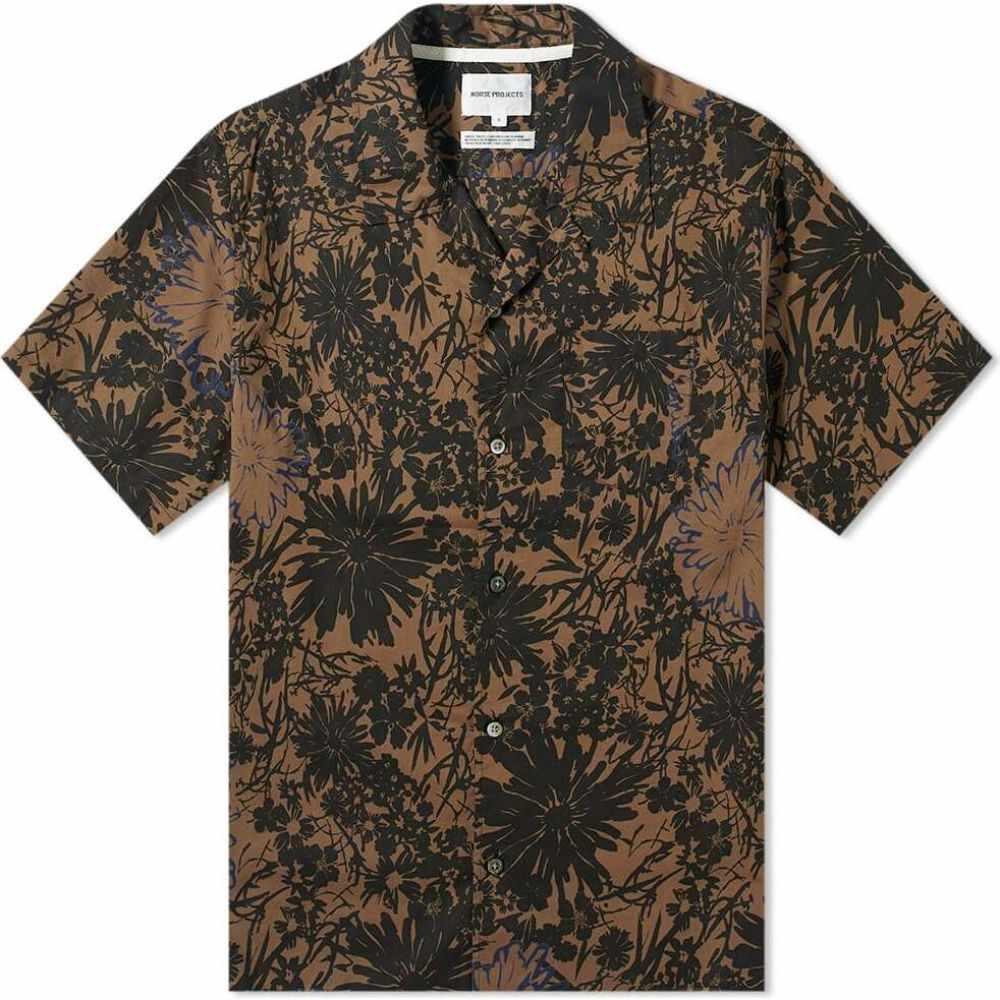 ノースプロジェクト Norse Projects メンズ 半袖シャツ トップス【Carsten Flower Print Vacation Shirt】Taupe