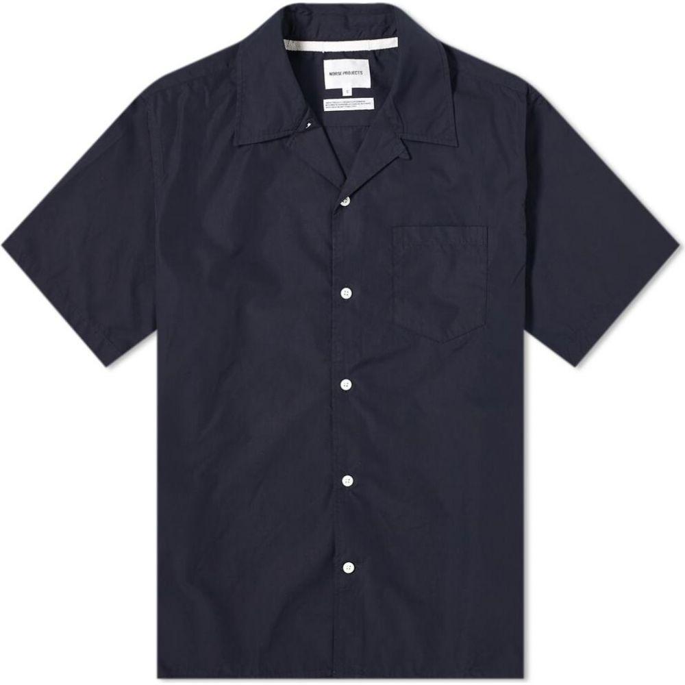ノースプロジェクト Norse Projects メンズ 半袖シャツ トップス【Carsten Vacation Shirt】Dark Navy