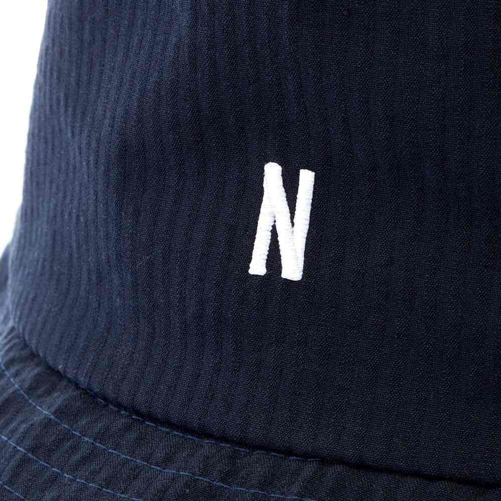 ノースプロジェクト Norse Projects メンズ ハット バケットハット 帽子 Seersucker Bucket Hat Dark NavyEDI9WH2