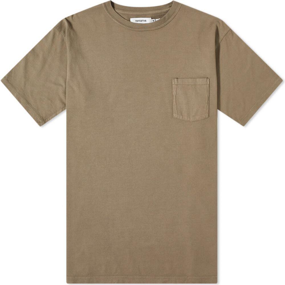 ノンネイティブ Nonnative メンズ Tシャツ トップス【Dweller Overdyed Tee】Beige