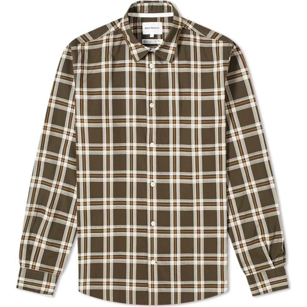 ノースプロジェクト Norse Projects メンズ シャツ トップス【Hans Light Check Shirt】Beech Green