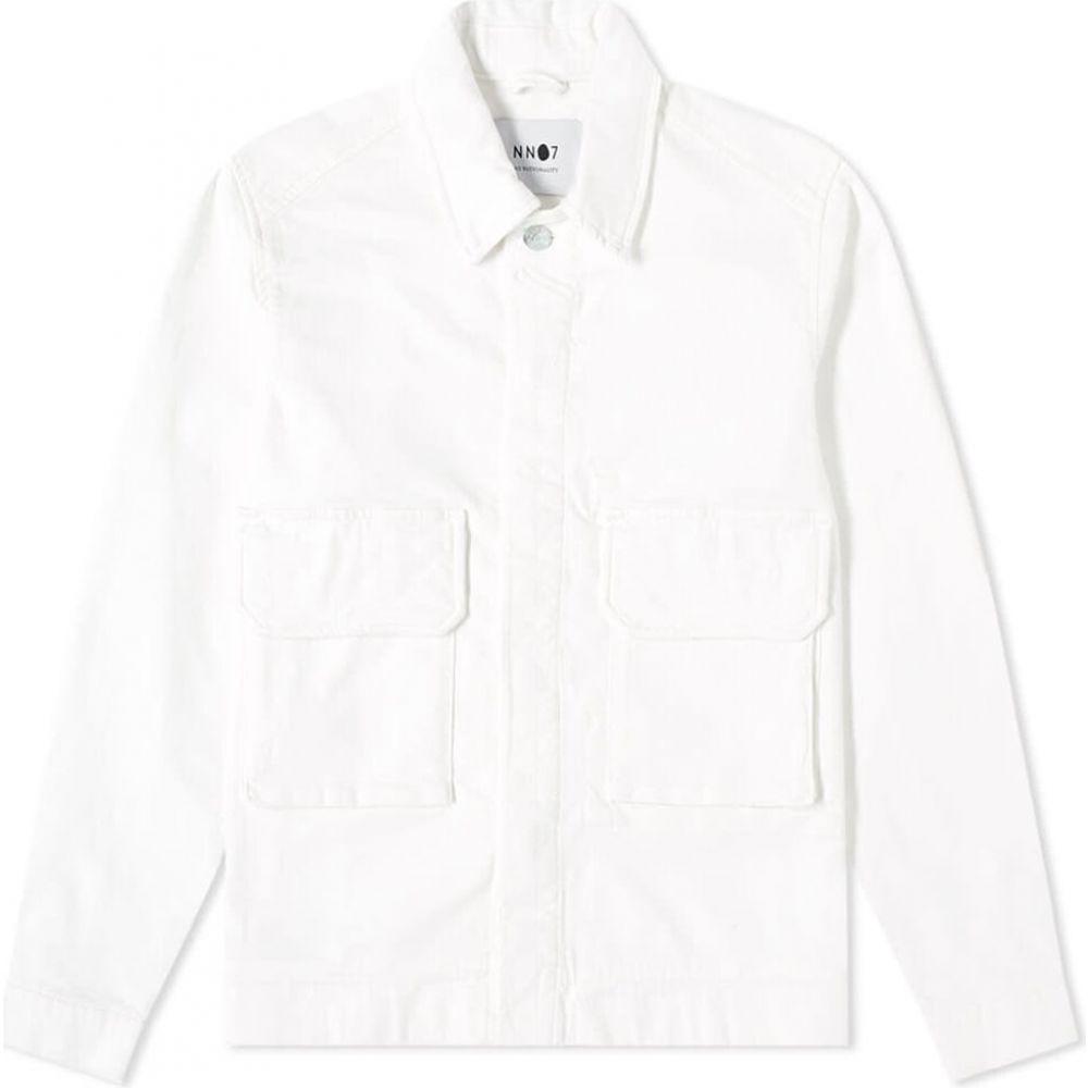 NN07 メンズ ジャケット アウター【Burke Slub Chore Jacket】Egg White