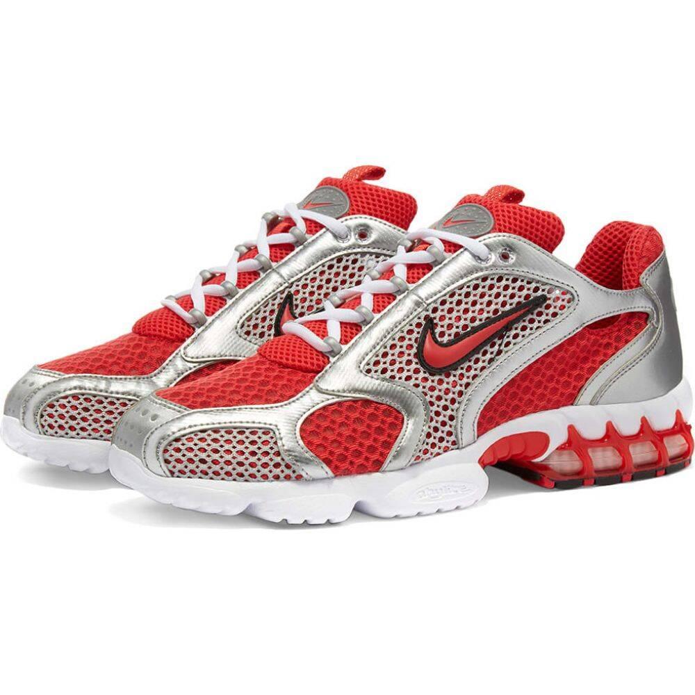 ナイキ Nike メンズ スニーカー エアズーム シューズ・靴【Air Zoom Spiridon Cage 2】Red/White/Silver