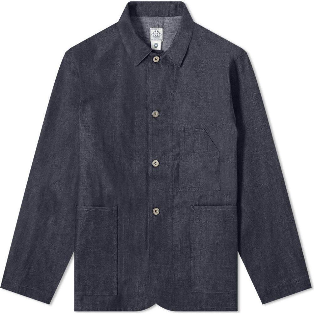ポストオーバーオールズ Post Overalls メンズ ジャケット Gジャン アウター【Denim Pocket Jacket】Indigo
