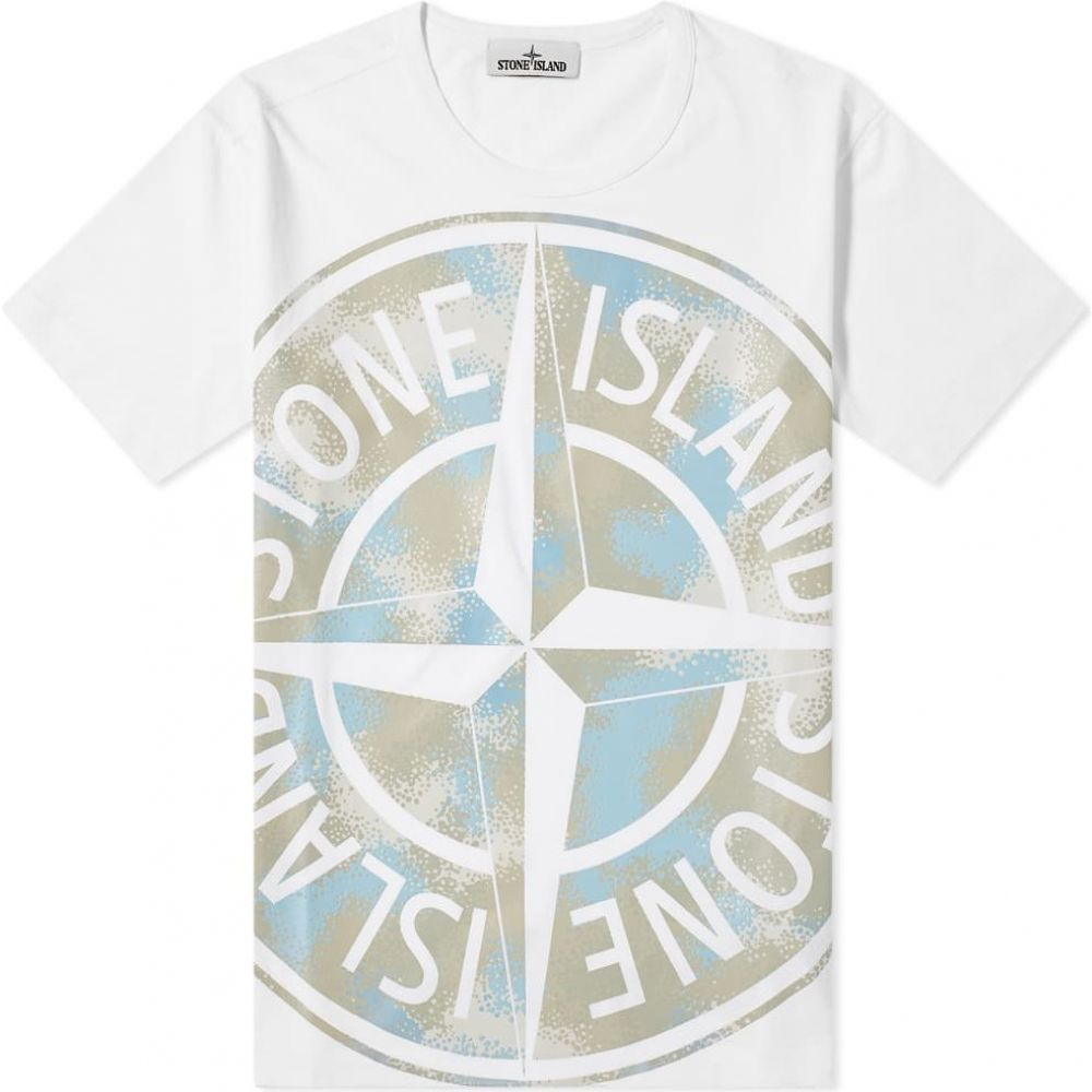 ストーンアイランド Stone Island メンズ Tシャツ ロゴTシャツ トップス【Oversized Print Logo Tee】White