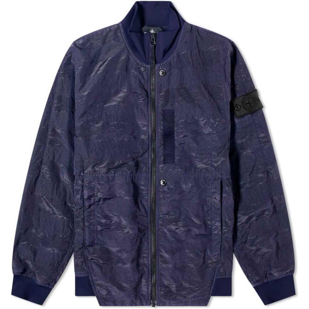 ストーンアイランド Stone Island Shadow Project メンズ ブルゾン ミリタリージャケット アウター【Striped Nylon Metal Bomber Jacket】Navy Blue