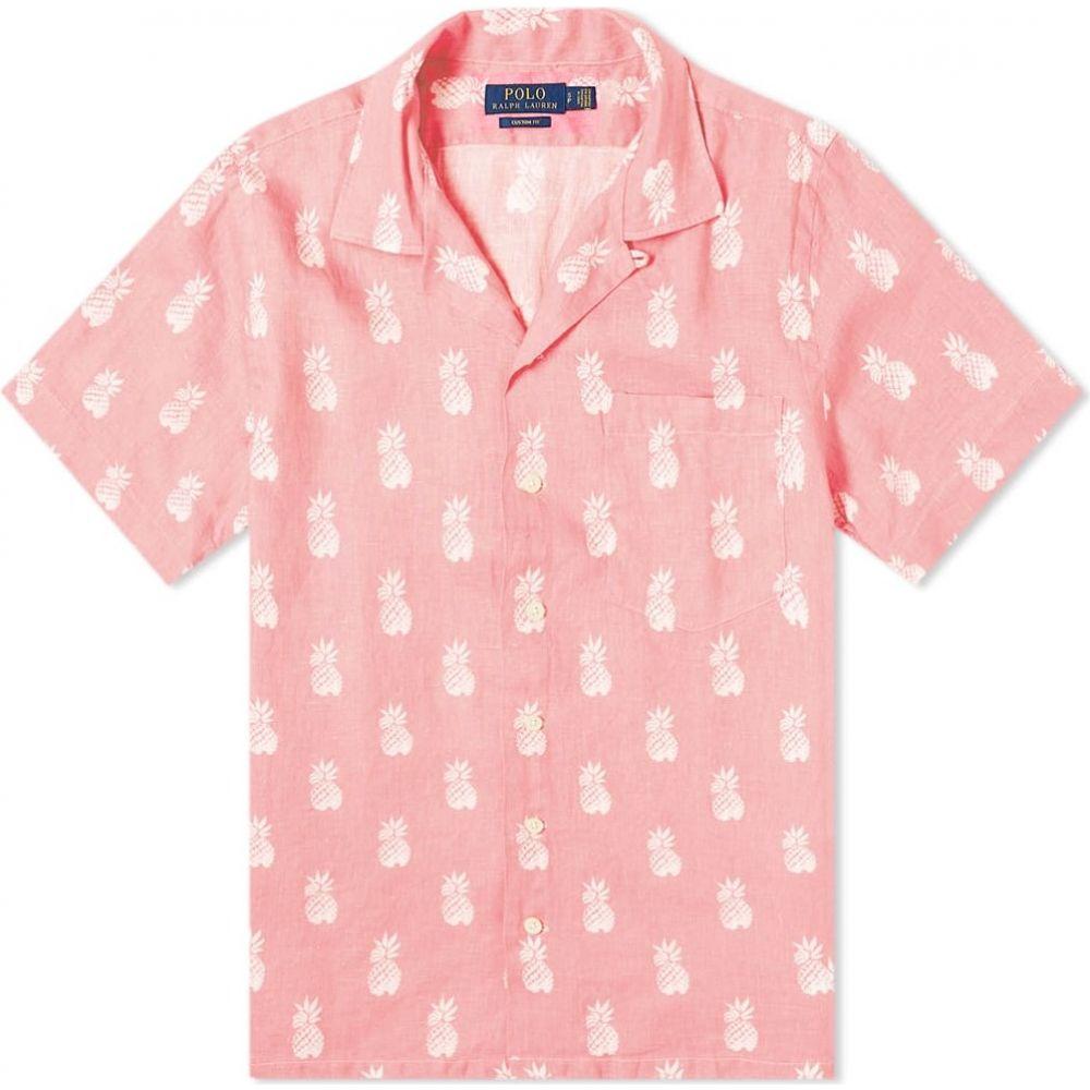ラルフ ローレン Polo Ralph Lauren メンズ 半袖シャツ トップス【Pineapple Print Linen Vacation Shirt】Bathsheba Pineapples