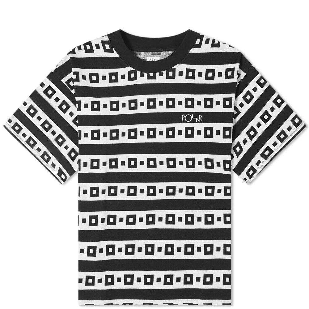 ポーラー スケート カンパニー Polar Skate Co. メンズ Tシャツ トップス【Square Stripe Surf Tee】Black