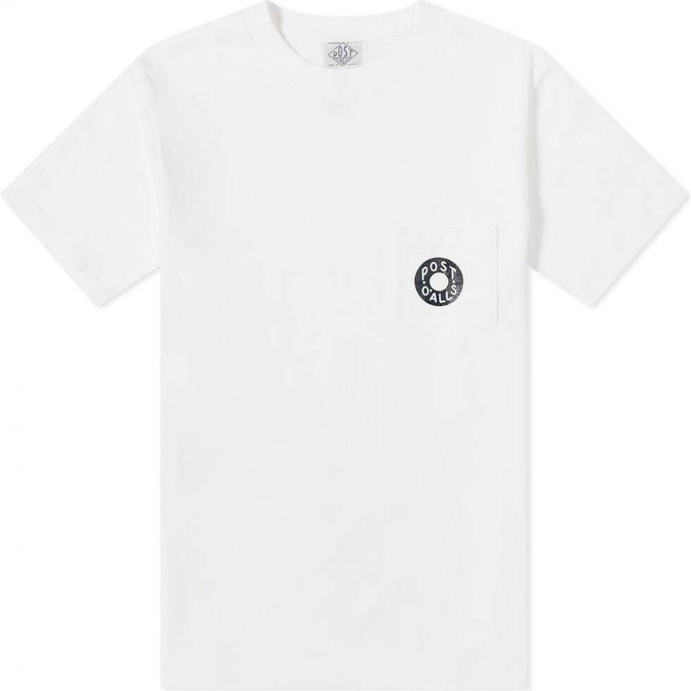 ポストオーバーオールズ Post Overalls メンズ Tシャツ ポケット トップス【Donut Pocket Tee】White/Navy