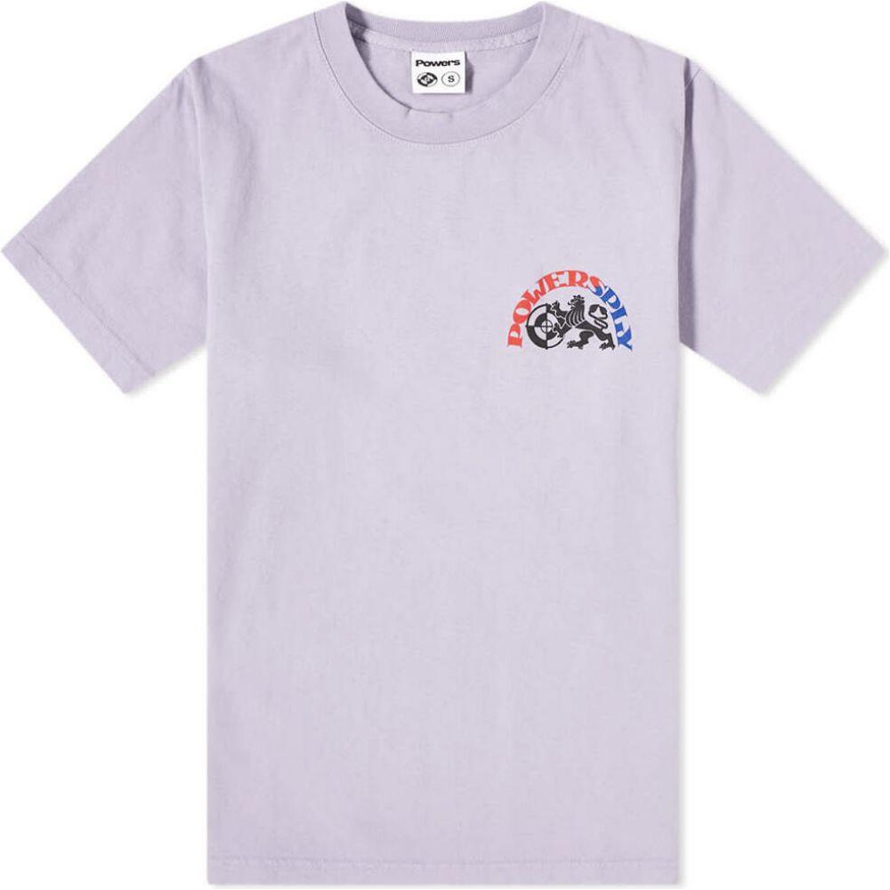 パワーズ POWERS メンズ Tシャツ トップス【Armstrong Tee】Light Purple